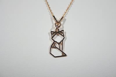 "collier ""renard origami"" vermeil"