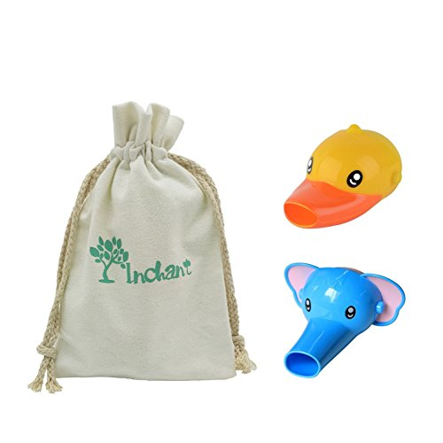 Preisvergleich Produktbild Packung mit 2 Tiere Hahn Extender Sink Griff Extenders für Kleinkinder Kinder Hand-Wäsche, Sicherheit für Kinder Baby-Bad-Spielwaren-Hahn-Verlängerung mit Cotton Kordelzug Gift Bag