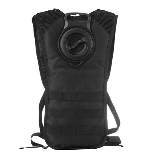 Dexinx Laufrucksack Wanderrucksack Wasserrucksack mit 2.5L Trinkblase Best Outdoor Gear für Wanderungen Schwarz 23*44cm