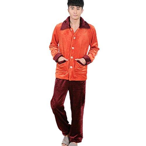 DMMSS Uomo Autunno e Inverno Pajamas Set Coppia accappatoio ispessimento flanella Sleepwear Set , xl - Terry Bambino Bambola