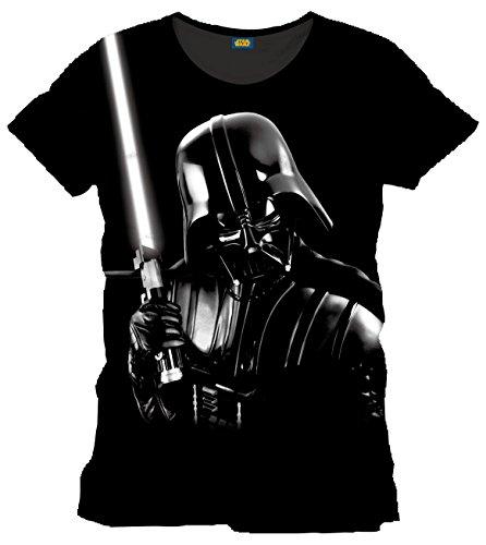 Star Wars Maglietta Maglia T Shirt Silver Darth Fener Vader Size XL CODI