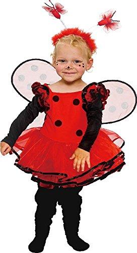 Kostüm Marienkäfer zu Karneval Fasching Gr.92 (Marienkäfer Halloween-kostüm Für Baby)