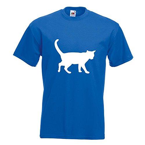 KIWISTAR - Katze T-Shirt in 15 verschiedenen Farben - Herren Funshirt bedruckt Design Sprüche Spruch Motive Oberteil Baumwolle Print Größe S M L XL XXL Royal