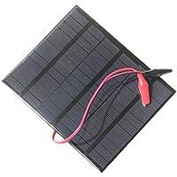 3.5W 18V Mini Panel Solar de Polisilicio Portátil + Clip de Cocodrilo Sistema Solar de BRICOLAJE para Lámpara Ventilador de Bajo consumo de Energía