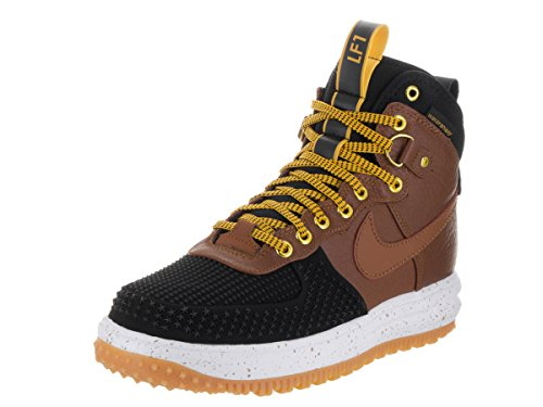 timeless design 0b848 1c30c Nike Lunar Force 1 Duckboot, Chaussures de SportBasketball Homme, 9,5 UK    44,5 EU   10,5 US Noir   marron   jaune   blanc noir   tan anglais clair  light ...