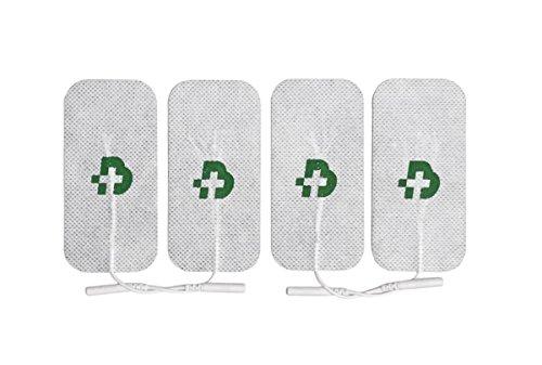 Tesmed - 4 electrodos para electroestimulador mm. 50 x 100, universales, lavables