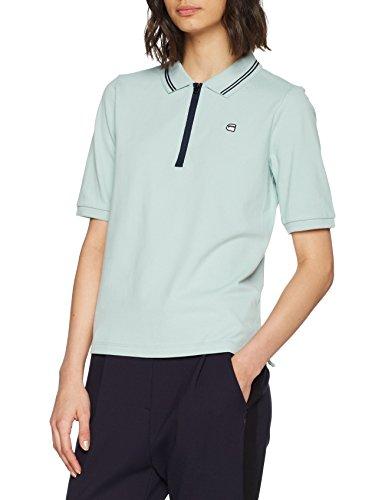 G-STAR RAW Damen Poloshirt Rc Slim Polo Wmn 1/2 SLV, Blau (Fresh Cote 8883), Small (Herstellergröße: S) (Womens Pique Polo Premium)