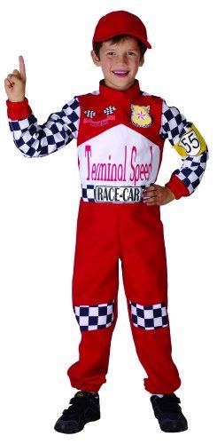 Anzug Rennfahrer Kostüm - Generique Rennfahrer Kostüm für Kinder 140/152 (10-12 Jahre)