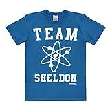 Logoshirt Big Bang Theory - Genie - Team Sheldon T-Shirt Herren - blau - Lizenziertes Originaldesign, Größe XXL