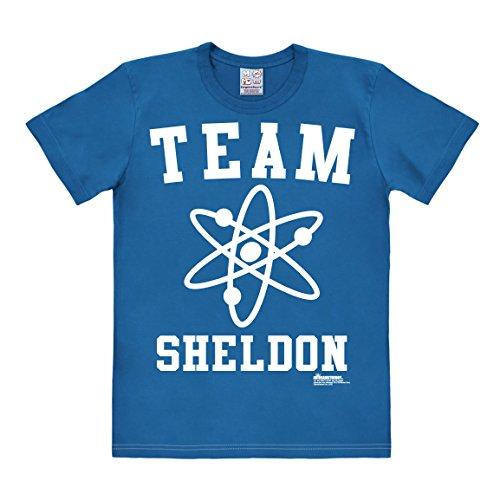Logoshirt Big Bang Theory - Genie - Team Sheldon T-Shirt Herren - blau - Lizenziertes Originaldesign, Größe ()