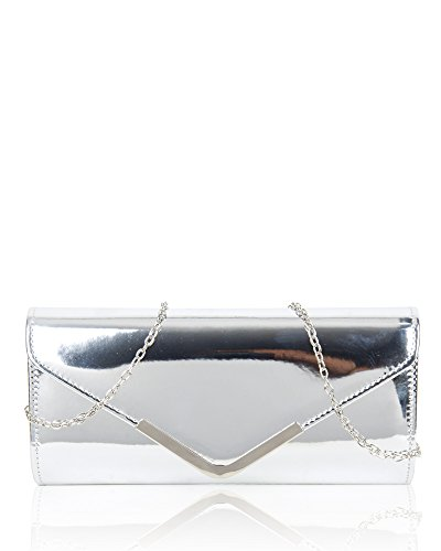 e1a88b79a41 Women's Elegant Shiny Patent Evening Clutch Bag/Ladies Fashion Prom Wedding  Party Handbag Size 26x12x5.5 cm - Buy Online in Oman. | Apparel Products in  Oman ...
