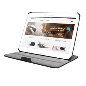Anker® Galaxy Tab 3 10.1 Hülle Case Slim-Fit Synthetic  Ledertasche Etui Schutzhülle für Samsung Galaxy Tab 3 10.1 GT-P5200 / GT-P5210 / GT-P5220 Tablet aus PU Kunstleder mit Ständer - Einteiliges Wide-View Design - Schwarz