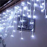 TianranRT Rideau de fenêtre à LED en Forme de Stalactite pour décoration de Mariage Weiß