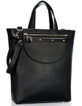 Estarer Damenhandtasche PU-Leder Handtasche Damen Laptoptasche 15,6 Zoll für Arbeit Uni
