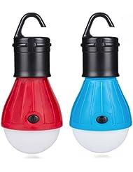Linkax Lanterne de camping LED Lampe Torche ultra lumineuse Lumière d'Urgence Lampe de tente Lanterne ampoule COB150 Lumens lampe portable pour camping randonnée pêche chasse randonnée les activités de alpinisme (Lot de 2)