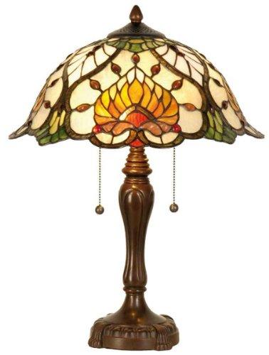 Lumilamp 5LL-5390 Stehlampe Tischlampe Tiffany-Stil OHNE LEUCHTMITTEL ca. 50 x Ø 40 cm 2x E27 Max. 60W