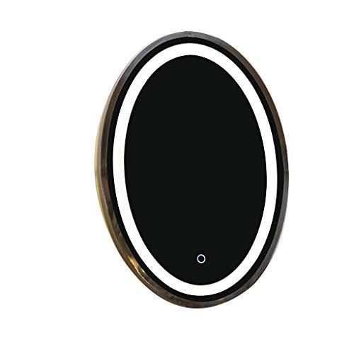 Badspiegel mit Beleuchtung, Dimmbarer Spiegel Touchscreen-Schalter Beleuchteter LED-Kosmetikspiegel Anzug für Hotels (Size : 60cmx80cm) ()