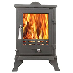 Rosa 5kw Multifuel Wood Burning Stove Traditional Cast Iron Woodburner From T...