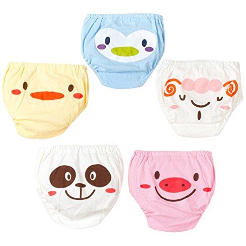 JEELINBORE Bebé Pantalones Reutilizables para Niño Niña, Cómodo Ropa Interior Braguitas Pantis,...