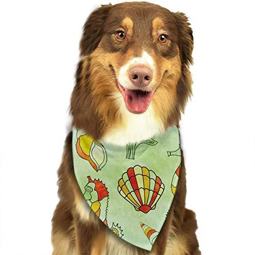 Hectwya Lustige Pet Bandanas Schal Vintage Sea Life Classic Pet Bandana Hundehalsbänder für Hund Katze eine Größe (Half Life 2 Kostüm)