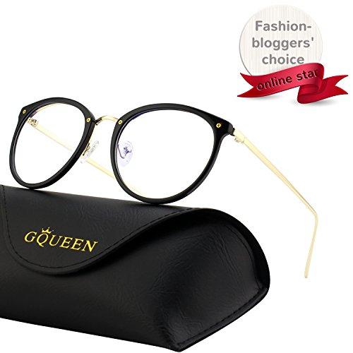 GQUEEN Mode-blaues Licht, das Computer-Gläser, Antiblendung, Anti-Augenermüdungmit TR90 Rahmen und Metallarm, transparente Linse, GQ510