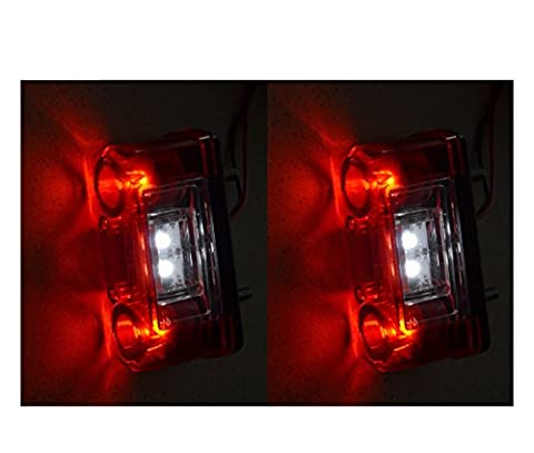 2 X 12V 24V LED PLAQUE D'IMMATRICULATION FEU ARRIERE ECLAIRAGE