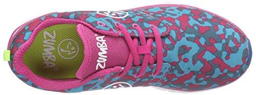 Zumba Footwear Zumba Fly Print, Chaussures de fitness femme Bleu - Blau (Tropic Pink/Blue)