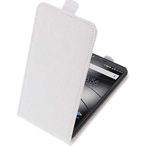 foto-kontor Tasche für Gigaset GS370 / GS370 Plus Smartphone Flipstyle Schutz Hülle weiß