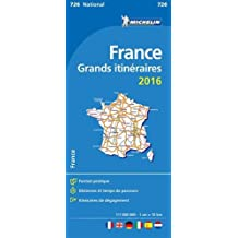 Carte Grands Itinéraires France 2016 Michelin