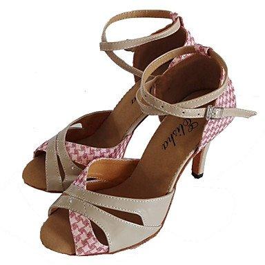 Donna Banchetto Latino Stanza Ballo Scarpe Pink