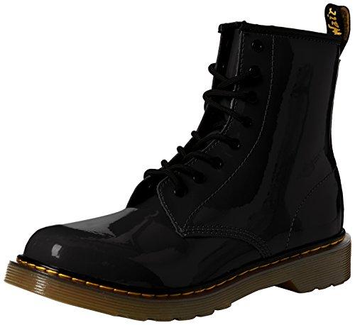 Dr. Martens Unisex-Kinder 1460 Y Klassische Stiefel, Schwarz (Black 001), 38 EU Youth Black Patent Schuhe