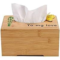 ZBJJ Creativo Rectángulo de Madera Recoger Caja de pañuelos Minimalista Servilleta de Escritorio Toalla de Papel