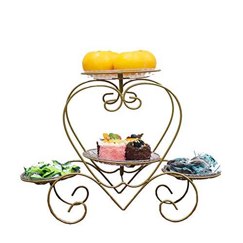 BAIJ Herzförmige Früchtekorb, Countertop-Frucht-Gemüse-Speicher-Stand, Perfekt Für Obst, Gemüse, Snacks, Haushaltsgegenstände,ChampagneGold