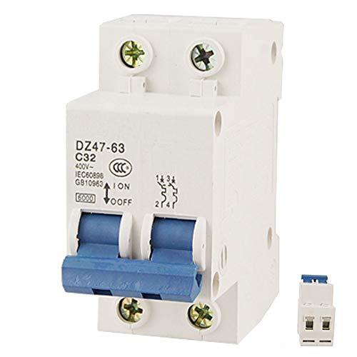 Leistungsschalter Hohe Qualität Dz47-63 C32 Ac 400 V 32A 6000A 2 Pole Hutschienenmontage Leitungsschutzschalter -