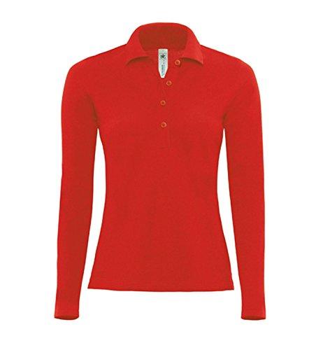 Polo Femme cintré 'SlimFit' tailler pour les femmes red