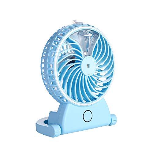 Handheld-Ventilator Mini-Hand-Fan Kleinen Schreibtisch Ventilator Blau Falten USB-Betriebene Elektro-Ventilator Tragbare Kühlung Ventilator Persönlichen Spray-Ventilator Mit Kühl Befeuchter