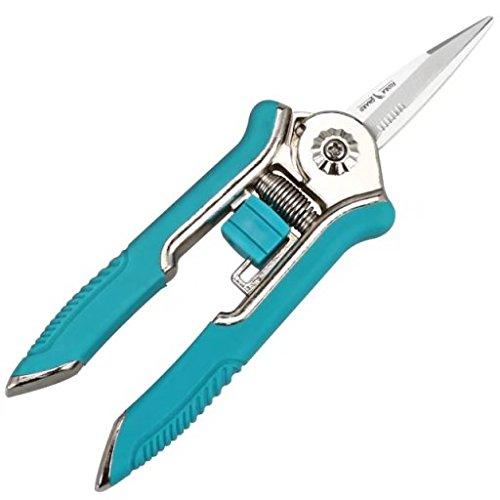 FLORA GUARD 16,5cm Micro-Tip Gartenschere Beschneiden Snip Trimmen Schere mit Edelstahl (Blau ) (Blade-guards Blau)