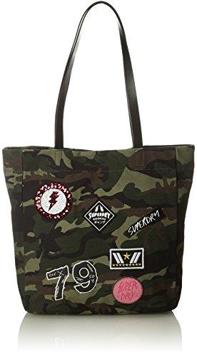 Camo Canvas Tote Bag (Superdry Damen Shopper Tote-Bag, Multicolore (Patched Camo), 32x37x9 cm)