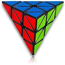 pirámide lisa cubo mágico cubo de la velocidad Rompecabezas, Negro