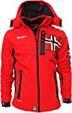 Geographical Norway - Giacca Softshell da Uomo, Fino a 5XL Colore: Rosso M