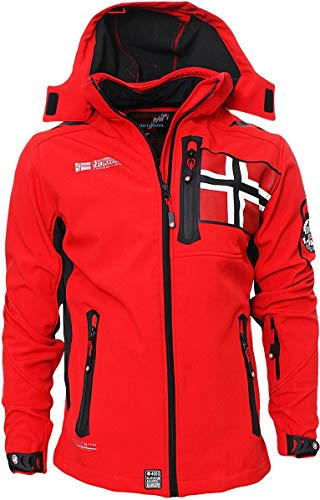 Geographical Norway Herren Softshell Jacke Funktions Outdoor, Rot - XL