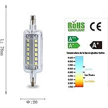 Homepluss - Bombilla LED R7s 78mm. 3000K 7W Equivalente a 150W