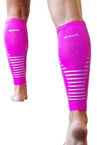 Mava Sports Wadenbandage | Waden Kompression Für Den Sport Wie Handball, Fussball & Laufen | Herren & Damen Laufstrümpfe | 1 Paar In Pink (Strümpfe Hohe Ag Oberschenkel)