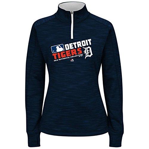 Majestic Damen Plus MLB Team Choice Fleece-Kapuzenpullover (Plus 2X, Detroit Tigers) (Cap Fitted Team Usa)