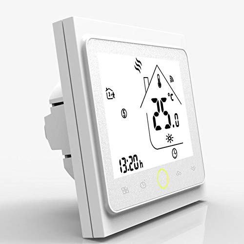 WiFi Thermostat Heizung Thermostat Unterstützung App Steuerung Elektrische Heizung Thermostat, Unterflur Temperaturregler, Digitales programmierbares elektrisches Thermostat mit Luft und Bodensensor