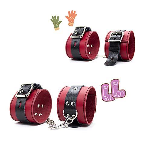 Roter Lederhand- und Fußring, Schmuck, Seil, Spielzeug