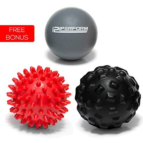 121perform - Juego de 3 pelotas de masaje Spikey