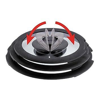Cristel K24CWOC Couvercle en Verre bomb/é Coccinelle 24cm-Cookway Transparent