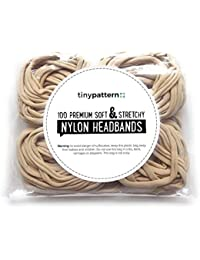 100 Premium Quality Nylon Nude Headbands - Soft and Stretchy for Newborns, Babies and Toddlers. Perfect for DIY/Craft/Hobby by tinypattern