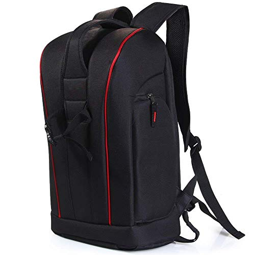 Wenquan,Nylon-Kamera-Rucksack-Handtaschen-Kit und Tablet-PC-Tasche für Canon Nikon Sony Digital SLR-Kamera-Kamera(color:SCHWARZ) Slr Gadget Bag